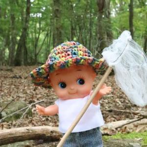 キューピーが昔の夏休みにタイムスリップ。ノルウェイの森を訪ねて(衣装の型紙あり)