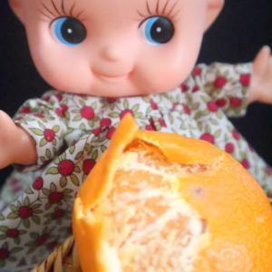 キューピーが好きな果物「出島の華」みかんだよ~~ん。ほっぺがおちちゃう!