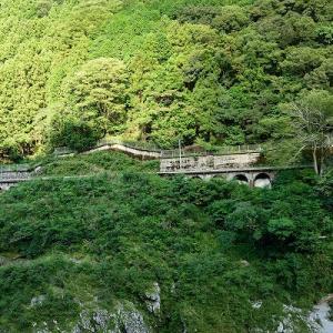 渓谷を走る列車