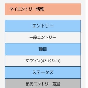 さとさん、東京マラソン当選したってょ!