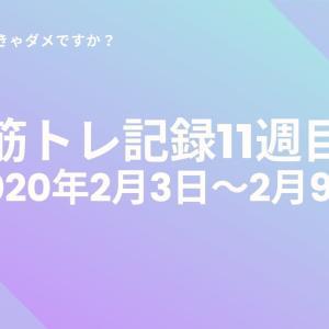 【筋トレ記録11週目】立ちコロ成功!懸垂やり放題!【2020年2月3日〜2月9日】