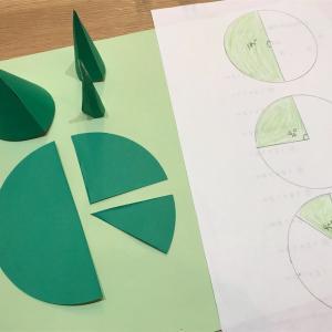 『小学校算数  円すいの実験と美しい森の工作』