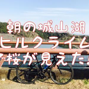 【3/27朝のライド】城山湖ヒルクライムを気持ち良く走って、桜も見る!?7
