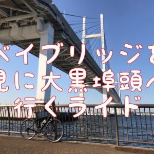 【本日のライド】ベイブリッジを見に行き、大黒埠頭まで70㎞ライド(with kさん)
