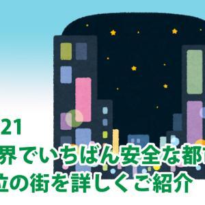 2021 世界でいちばん安全な都市ランキング 1位の街を詳しく紹介 東京は何位にランクイン?
