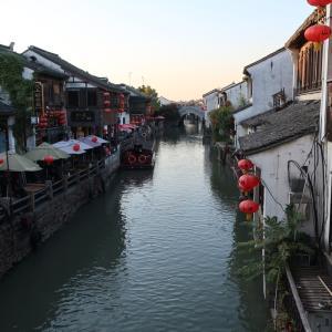 春秋航空で上海と蘇州へ黄昏に①