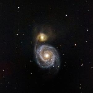 2年前子持ち星雲M51