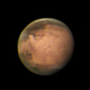 4年前同期の火星@黒部