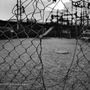 散歩写真「暑さで誰もいない公園」:葛城市磐城