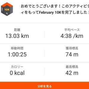 1人合宿1日目、30km走った。 2/29