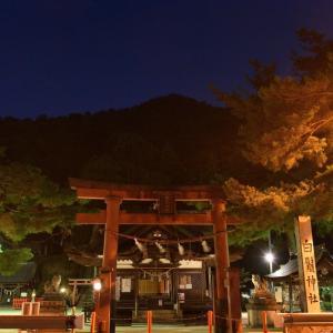 【中秋の名月と白髭神社の鳥居 @白髭神社】 20'10/2
