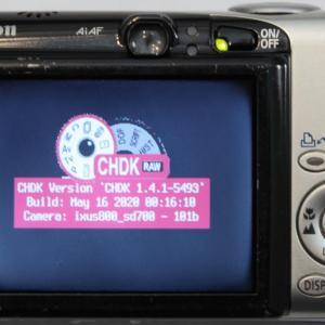IXY 800 IS へのCHDKの導入