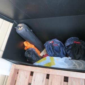 キャンプ道具の置き場がない…。ベランダ収納の自作