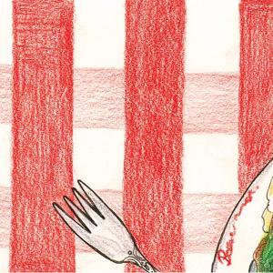 【エッセイ】赤と白の交わる、ギンガムチェックの上で~人と料理のささいな話〜