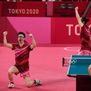 日本卓球、念願の叶った…最強の中国破り初の金メダル=韓国の反応