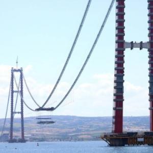 韓国人「日本と半々で作ったペトロナスツインタワーに次ぐ快挙!世界最長の吊り橋・トルコチャナッカレ大橋が間もなく完成へ!誇らしい…」