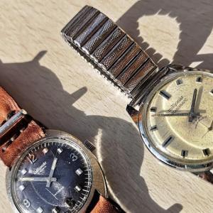 ヴィンテージ腕時計レビュー:北欧の謎ブランドmiljonär。裏蓋の戦車とロケットは一体…