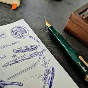緑に金がお洒落なカヴェコ・クラシック・スポーツ万年筆モデル