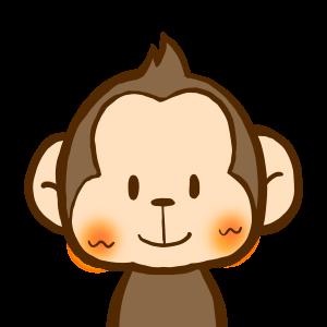 お猿さんアイコン/商用利用無料おたよりイラスト集