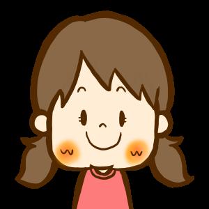 笑顔の女の子のイラスト/商用利用無料おたよりフリーイラスト素材集