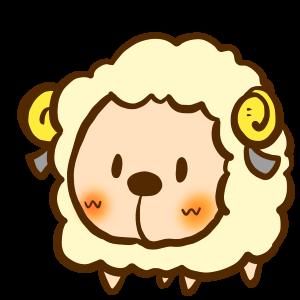 可愛い羊のイラスト/商用利用可能無料おたよりイラスト素材集