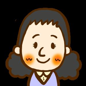 女性・若いお姉さん・アイコン5/商用利用無料おたよりフリーイラスト素材集