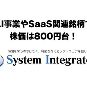AI事業やSaaS関連銘柄で株価は800円台!システムインテグレータ(3826)の銘柄分析