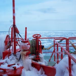 【北海道 紋別】ガリンコ号IIで流氷を撮影