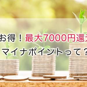 超お得!最大7000円還元!マイナポイントって?