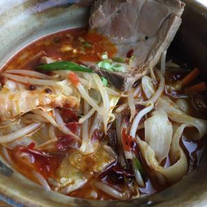 赤いスープ。