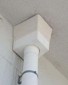 雨水配管の整備。