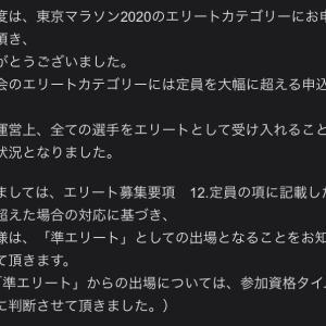 東京マラソンエリート事務局からの悲しいお知らせ
