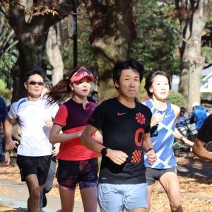 キロ4分15秒→4分の駒沢25㎞ペース走