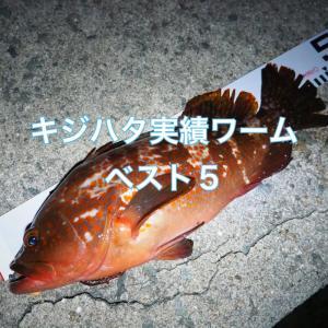 大阪湾 キジハタ実績ワームベスト5
