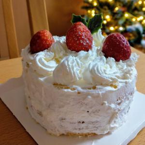 子供が作ったクリスマスケーキ2019