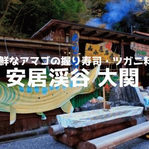 秋しか開いていない安居渓谷【大関】レポ!新鮮なアマゴの握りずしは絶品!