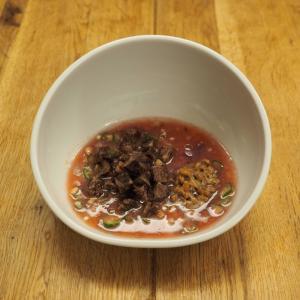 時短・簡単!犬ごはん|秋の紫芋を使った納豆リゾット
