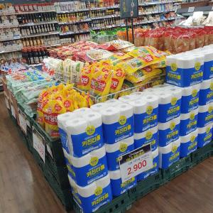 韓国デパ地下が大混雑で即退散!お盆前のスーパーの様子!