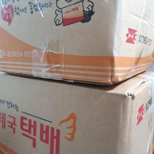韓国義母から巨大宅配が3箱届いたので開封!