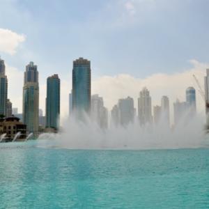 ドバイの噴水ショー