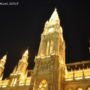 ウィーン市庁舎前でのFilmfestival