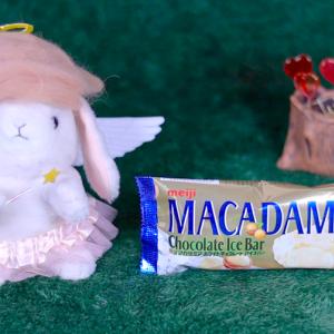 【マカダミアホワイトチョコレートアイスバー】ファミリーマート 2月4日(火)新発売、ファミマ コンビニ アイス 食べてみた!【感想】