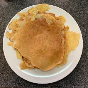 朝ホットケーキの日のおやつはクレープです