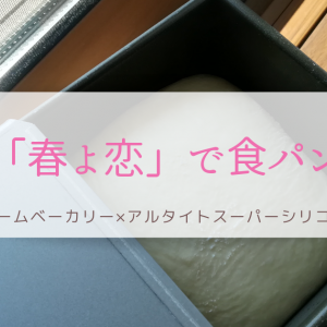 「春よ恋」で食パン|ホームベーカリー×アルタイトスーパーシリコン加工型