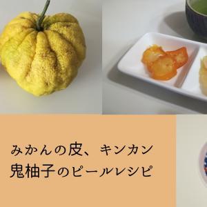 シュトーレン用ピールを手作りで!キンカン、鬼柚子ピールレシピ