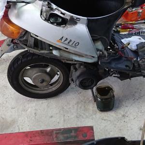 バイク エンジンストールの修理