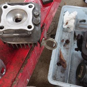 バイク エンジンストールの修理 完結
