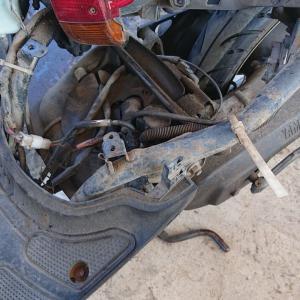 バイク エンジンロック修理