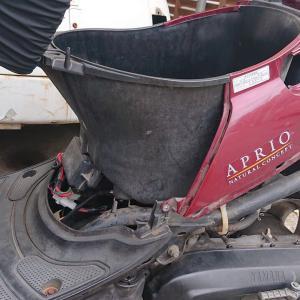 バイク ジョグアプリオのキャブ清掃からの・・