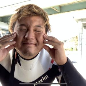 本日の波乗り in  鴨川マルキ